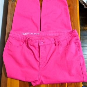 Pink ankle pants. Size 16 P.